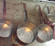 salvage new and return wholesale used silver cooper pans