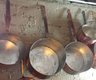 image of liquidation wholesale used silver cooper pans