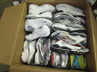 wholesale closeout used sneakers
