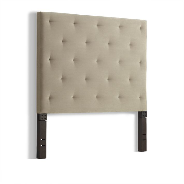 image of liquidation wholesale west elm diamond tufted headboard