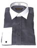 image of wholesale closeout white grey dresshirt