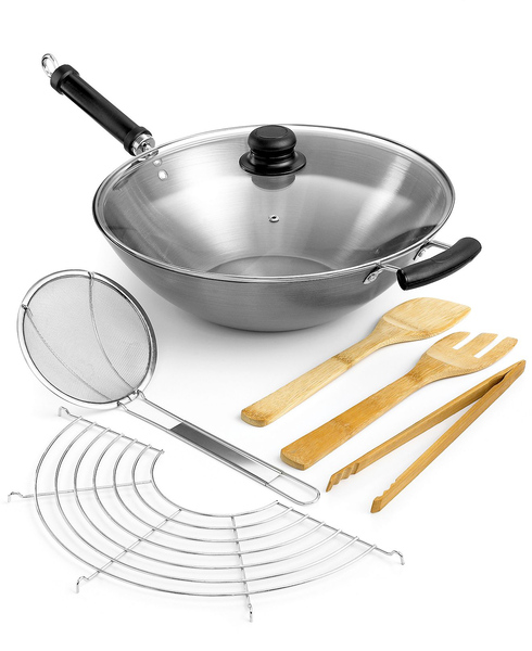 image of wholesale closeout wok set