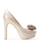image of wholesale womens beige heels