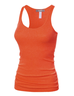 image of wholesale womens orange tank