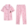 image of wholesale womens pink pajama set