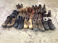 wholesale closeout work boots sample used