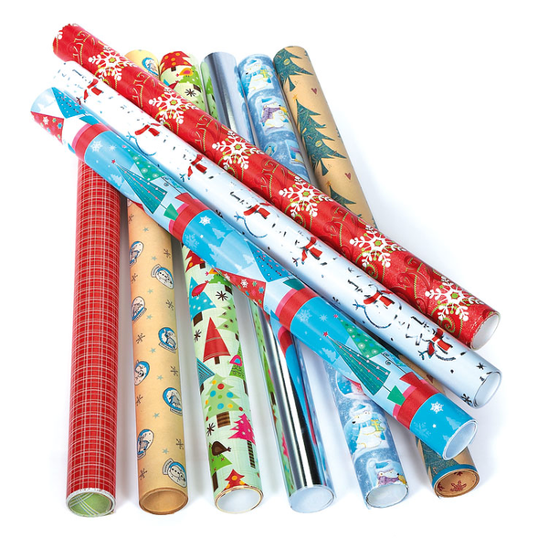 image of wholesale closeout wrapping paper holidays