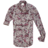 image of wholesale closeout zara floral grey button shirt