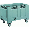 closeout wheeled plastic container